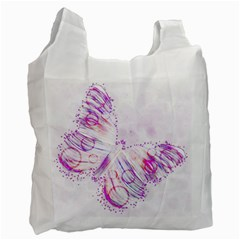 Colorful Butterfly Purple Recycle Bag (one Side)