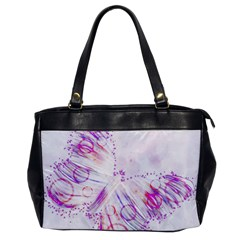 Colorful Butterfly Purple Oversize Office Handbag