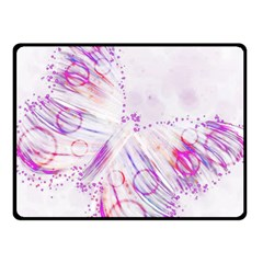 Colorful Butterfly Purple Fleece Blanket (small)