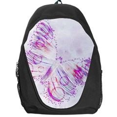 Colorful Butterfly Purple Backpack Bag