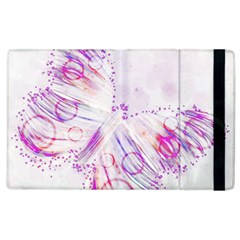 Colorful Butterfly Purple Apple Ipad 2 Flip Case by Mariart