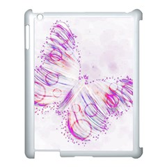 Colorful Butterfly Purple Apple Ipad 3/4 Case (white) by Mariart