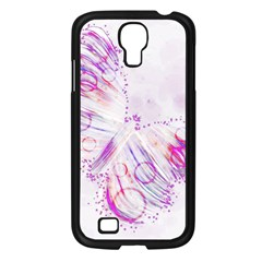 Colorful Butterfly Purple Samsung Galaxy S4 I9500/ I9505 Case (black)