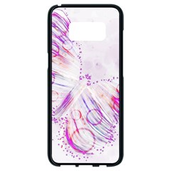 Colorful Butterfly Purple Samsung Galaxy S8 Black Seamless Case by Mariart