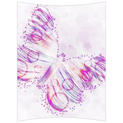 Colorful Butterfly Purple Back Support Cushion