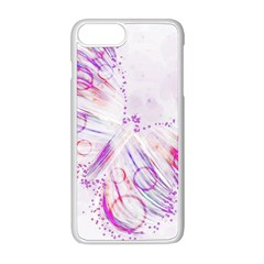 Colorful Butterfly Purple Apple Iphone 8 Plus Seamless Case (white) by Mariart
