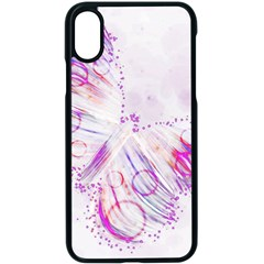 Colorful Butterfly Purple Apple Iphone X Seamless Case (black)