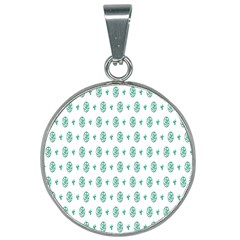Pattern Background 25mm Round Necklace