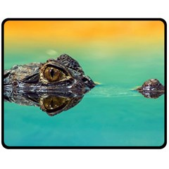 Amphibian Animal Fleece Blanket (medium)  by AnjaniArt