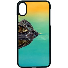 Amphibian Animal Apple Iphone X Seamless Case (black) by AnjaniArt