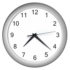 Pattern Background Holiday Wall Clock (silver)