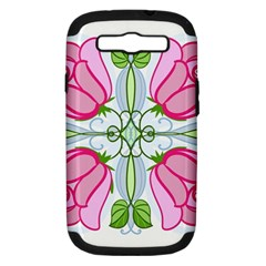 Figure Roses Flowers Ornament Samsung Galaxy S Iii Hardshell Case (pc+silicone)