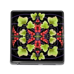 Pattern Berry Red Currant Plant Memory Card Reader (square 5 Slot) by Bejoart