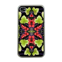 Pattern Berry Red Currant Plant Apple Iphone 4 Case (clear)
