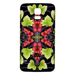 Pattern Berry Red Currant Plant Samsung Galaxy S5 Back Case (white)