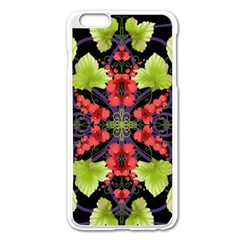Pattern Berry Red Currant Plant Apple Iphone 6 Plus/6s Plus Enamel White Case by Bejoart
