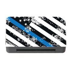 Usa Flag The Thin Blue Line I Back The Blue Usa Flag Grunge On White Background Memory Card Reader With Cf