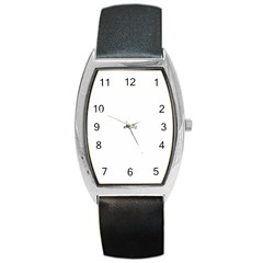 Star Background Gold White Barrel Style Metal Watch