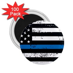 I Back The Blue The Thin Blue Line With Grunge Us Flag 2 25  Magnets (100 Pack)