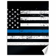 I Back The Blue The Thin Blue Line With Grunge Us Flag Canvas 12  X 16