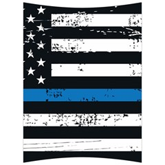 I Back The Blue The Thin Blue Line With Grunge Us Flag Back Support Cushion by snek