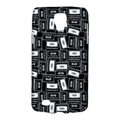 Tape Cassette 80s Retro Genx Pattern Black And White Samsung Galaxy S4 Active (i9295) Hardshell Case