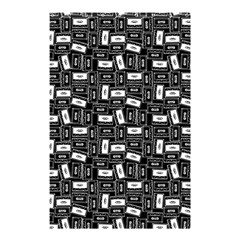 Tape Cassette 80s Retro Genx Pattern Black And White Shower Curtain 48  X 72  (small)