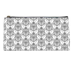 Scarab Pattern Egyptian Mythology Black And White Pencil Cases by snek