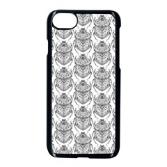 Scarab Pattern Egyptian Mythology Black And White Apple Iphone 8 Seamless Case (black) by snek