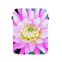Pretty Pink, White And Yellow Cactus Dahlia Macro Apple Ipad 2/3/4 Protective Soft Cases