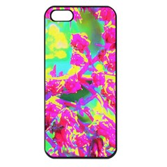 Psychedelic Succulent Sedum Turquoise And Yellow Apple Iphone 5 Seamless Case (black)