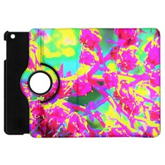 Psychedelic Succulent Sedum Turquoise And Yellow Apple Ipad Mini Flip 360 Case