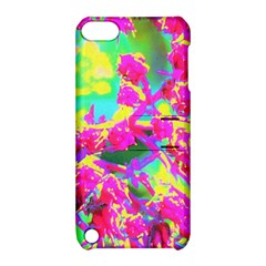 Psychedelic Succulent Sedum Turquoise And Yellow Apple Ipod Touch 5 Hardshell Case With Stand