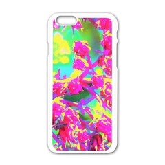Psychedelic Succulent Sedum Turquoise And Yellow Apple Iphone 6/6s White Enamel Case