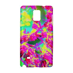 Psychedelic Succulent Sedum Turquoise And Yellow Samsung Galaxy Note 4 Hardshell Case