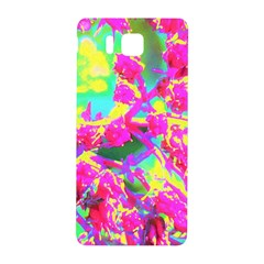Psychedelic Succulent Sedum Turquoise And Yellow Samsung Galaxy Alpha Hardshell Back Case by myrubiogarden