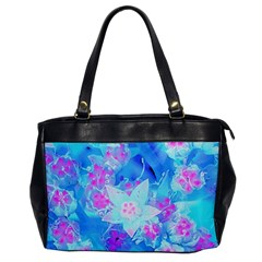 Blue And Hot Pink Succulent Underwater Sedum Oversize Office Handbag