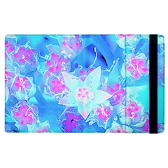 Blue And Hot Pink Succulent Underwater Sedum Apple Ipad 3/4 Flip Case