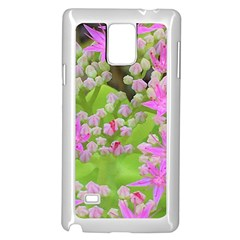 Hot Pink Succulent Sedum With Fleshy Green Leaves Samsung Galaxy Note 4 Case (white)