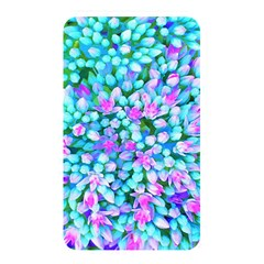 Blue And Hot Pink Succulent Sedum Flowers Detail Memory Card Reader (rectangular) by myrubiogarden