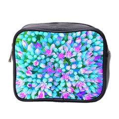 Blue And Hot Pink Succulent Sedum Flowers Detail Mini Toiletries Bag (two Sides) by myrubiogarden