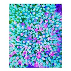Blue And Hot Pink Succulent Sedum Flowers Detail Shower Curtain 60  X 72  (medium)  by myrubiogarden