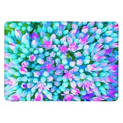 Blue And Hot Pink Succulent Sedum Flowers Detail Samsung Galaxy Tab 8 9  P7300 Flip Case by myrubiogarden