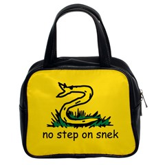 No Step On Snek Gadsden Flag Meme Parody Classic Handbag (two Sides)