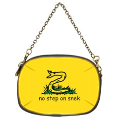 No Step On Snek Gadsden Flag Meme Parody Chain Purse (two Sides)