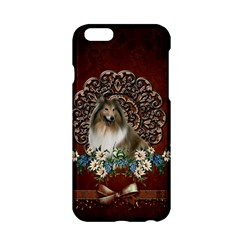 Cute Collie With Flowers On Vintage Background Apple Iphone 6/6s Hardshell Case by FantasyWorld7