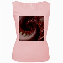Digital Fractal Fractals Fantasy Women s Pink Tank Top