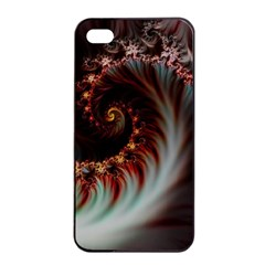 Digital Fractal Fractals Fantasy Apple Iphone 4/4s Seamless Case (black)