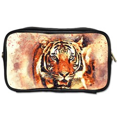 Tiger Portrait Art Abstract Toiletries Bag (one Side)