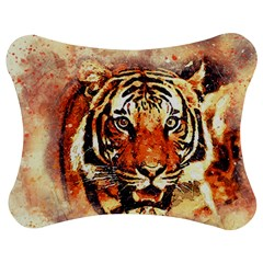 Tiger Portrait Art Abstract Jigsaw Puzzle Photo Stand (bow) by Bejoart